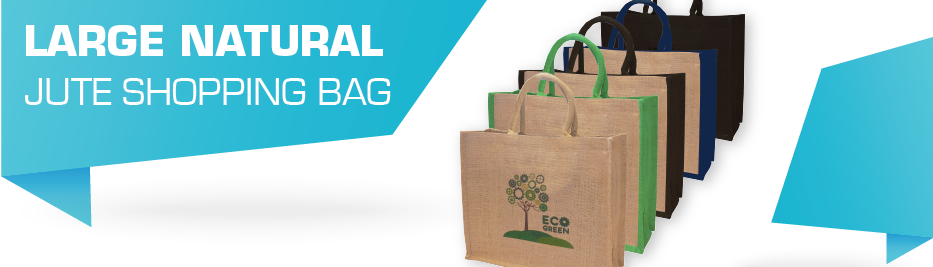 Large Natural Jute Shopping Bag