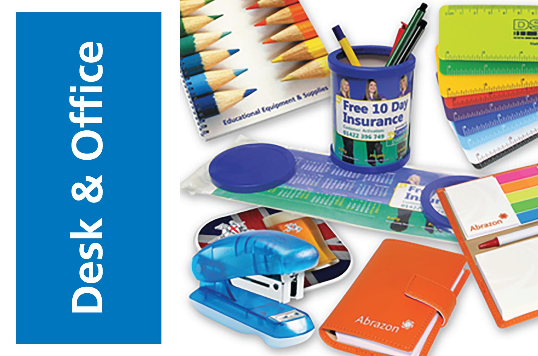 desk office branded office merchandise